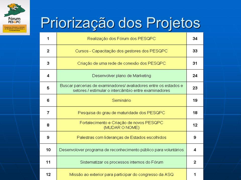 Priorização dos Projetos