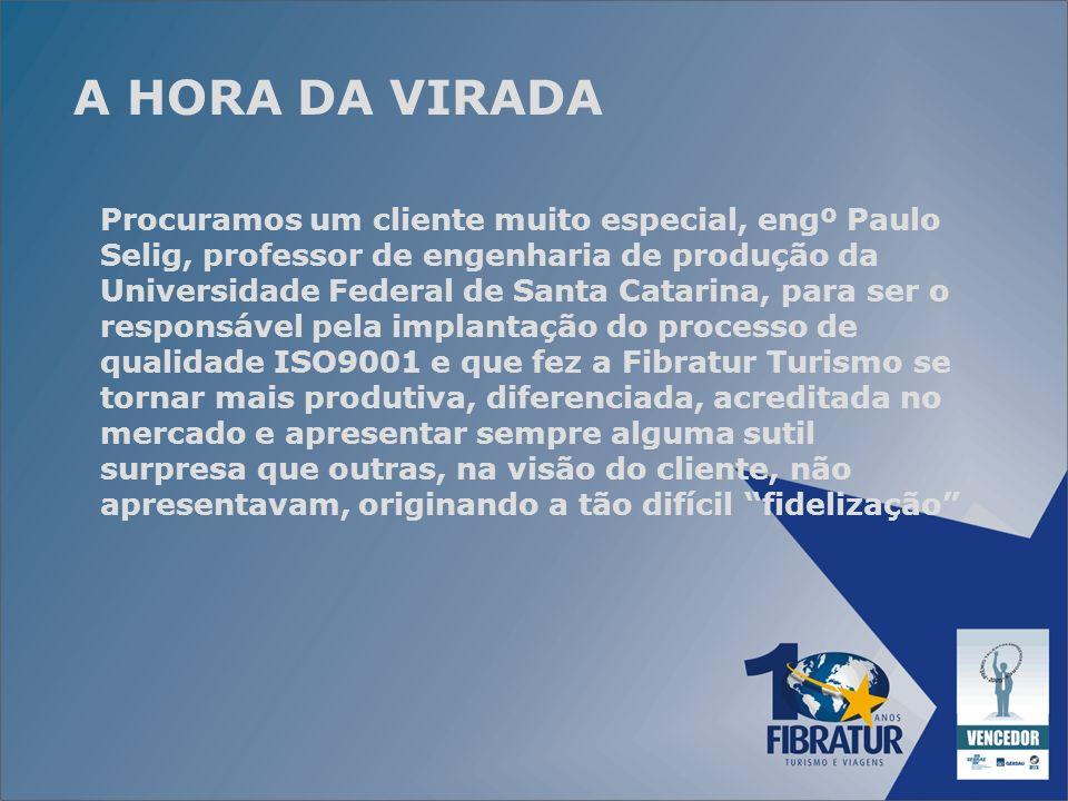 A HORA DA VIRADA Procuramos um cliente muito especial, engº Paulo Selig, professor de engenharia de produção da Universidade Federal de Santa Catarina