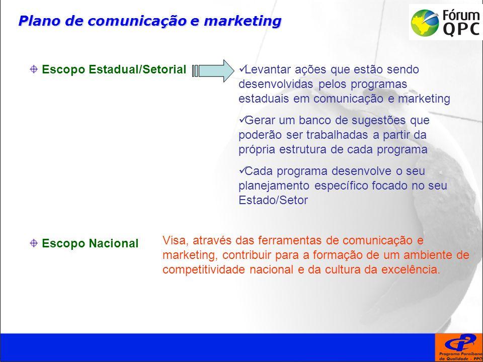 Plano de comunicação e marketing Visa, através das ferramentas de comunicação e marketing, contribuir para a formação de um ambiente de competitividade nacional e da cultura da excelência.
