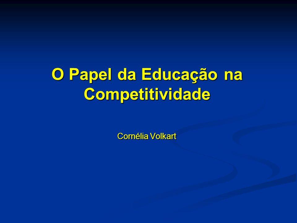 O Papel da Educação na Competitividade Cornélia Volkart Cornélia Volkart