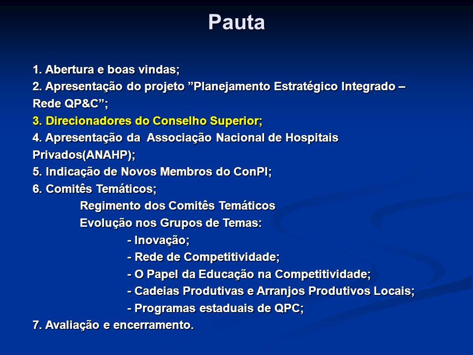 Direcionadores do Conselho Superior Carlos Augusto Salles