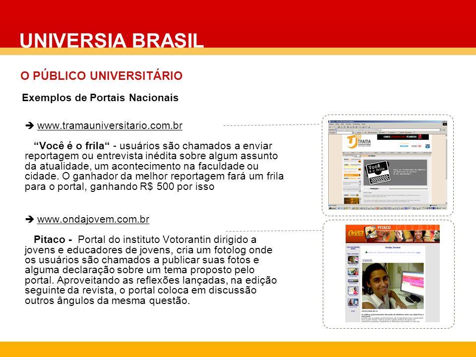 www.tramauniversitario.com.br Você é o frila - usuários são chamados a enviar reportagem ou entrevista inédita sobre algum assunto da atualidade, um a