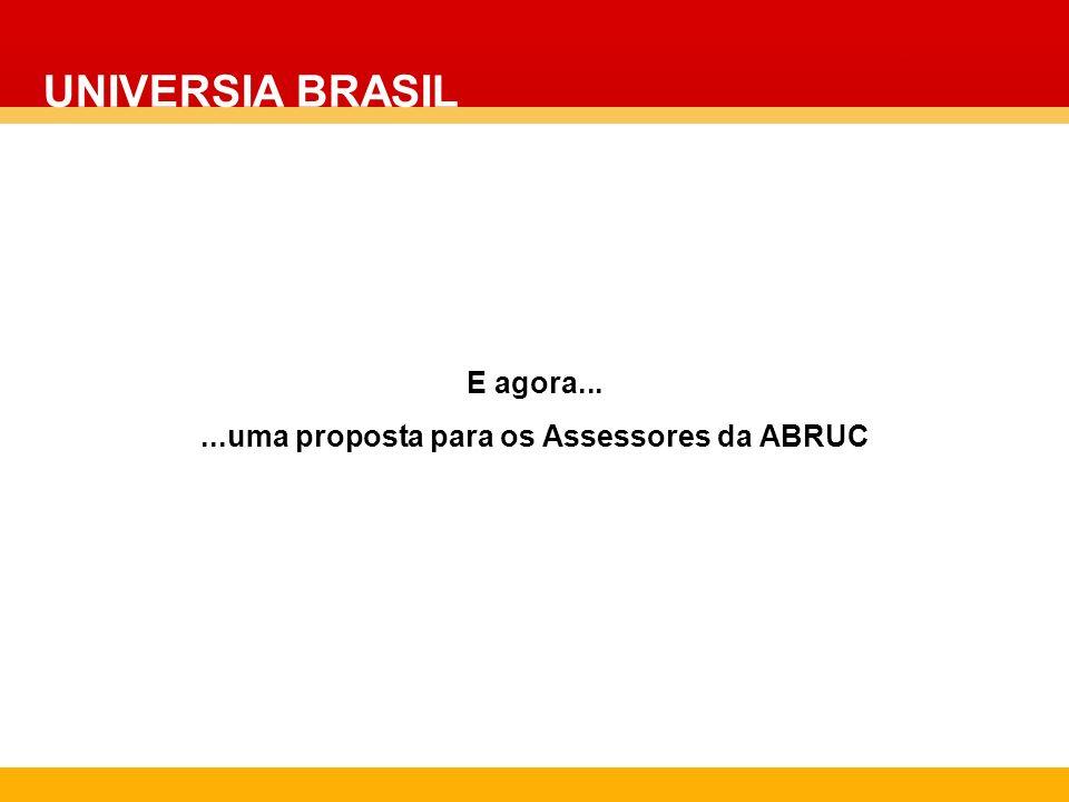 E agora......uma proposta para os Assessores da ABRUC UNIVERSIA BRASIL