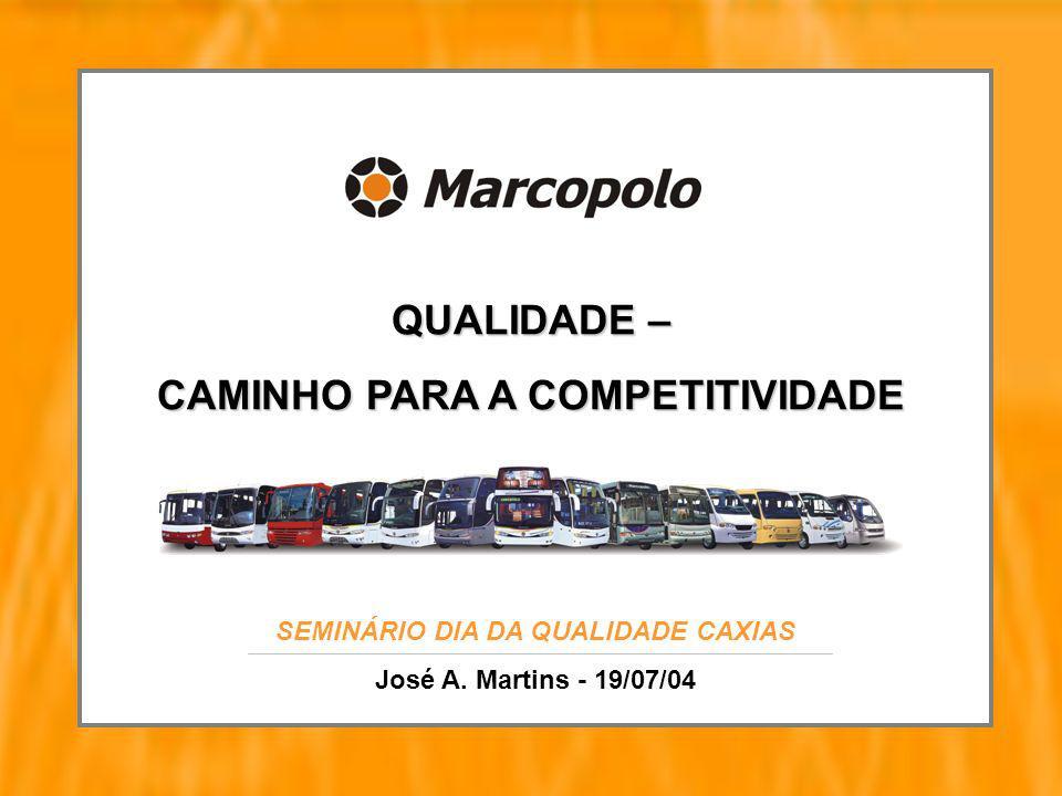 QUALIDADE – CAMINHO PARA A COMPETITIVIDADE SEMINÁRIO DIA DA QUALIDADE CAXIAS José A. Martins - 19/07/04