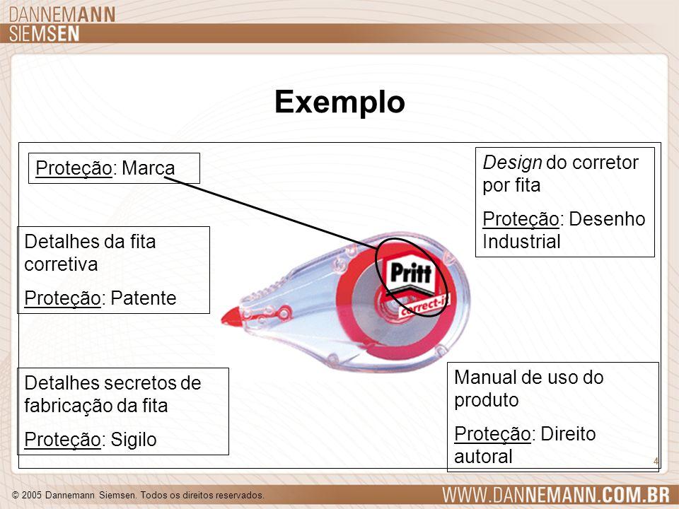 © 2005 Dannemann Siemsen. Todos os direitos reservados. 4 Exemplo Detalhes da fita corretiva Proteção: Patente Detalhes secretos de fabricação da fita