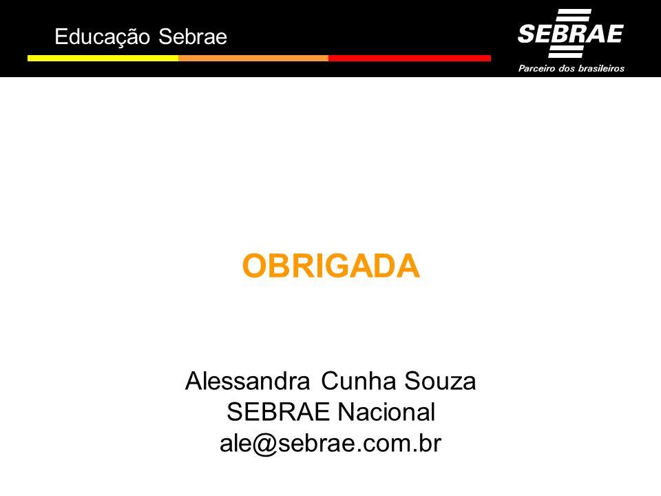 Educação Sebrae OBRIGADA Alessandra Cunha Souza SEBRAE Nacional ale@sebrae.com.br