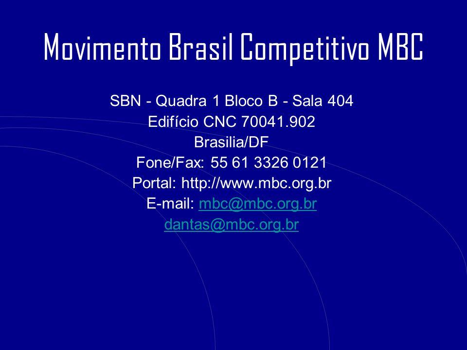 SBN - Quadra 1 Bloco B - Sala 404 Edifício CNC 70041.902 Brasilia/DF Fone/Fax: 55 61 3326 0121 Portal: http://www.mbc.org.br E-mail: mbc@mbc.org.brmbc
