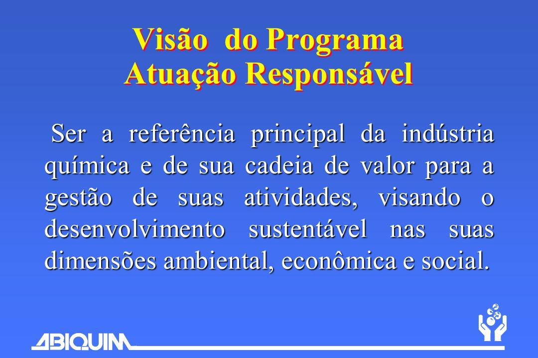 Ser a referência principal da indústria química e de sua cadeia de valor para a gestão de suas atividades, visando o desenvolvimento sustentável nas s