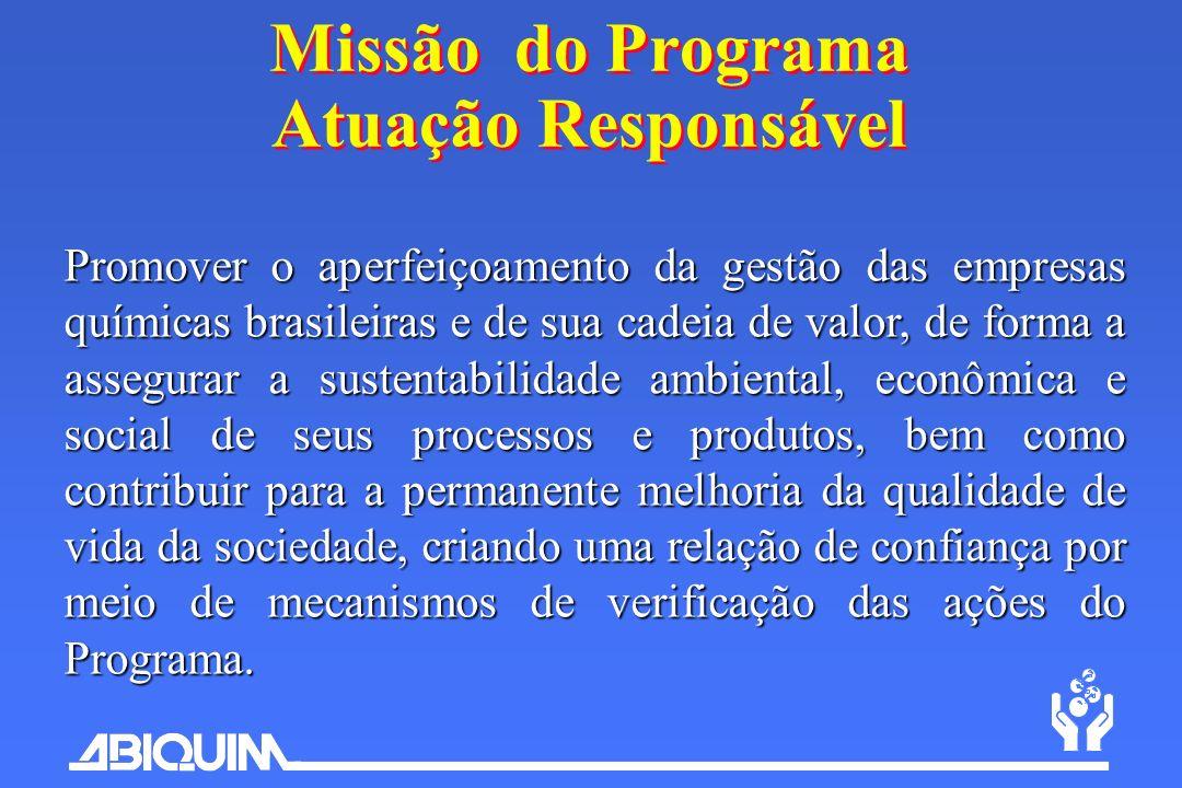 Promover o aperfeiçoamento da gestão das empresas químicas brasileiras e de sua cadeia de valor, de forma a assegurar a sustentabilidade ambiental, ec