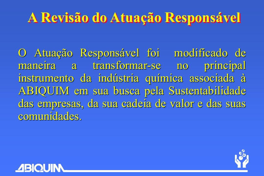O Atuação Responsável foi modificado de maneira a transformar-se no principal instrumento da indústria química associada à ABIQUIM em sua busca pela S