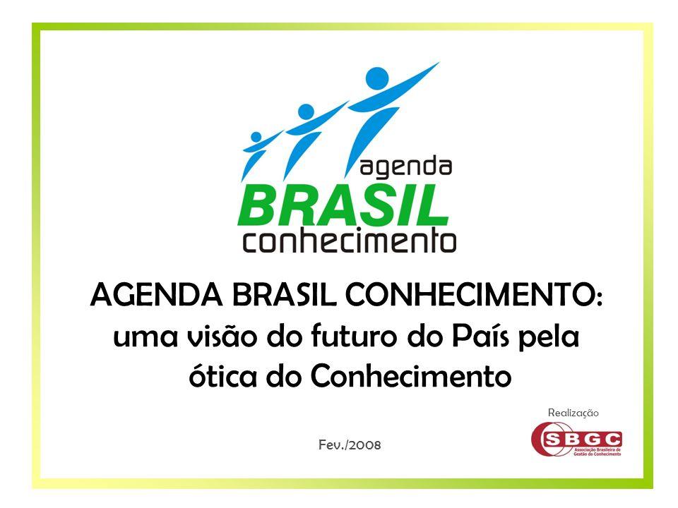 Objetivos Áreas Temáticas Sugeridas Fases do Projeto Realização AGENDA BRASIL CONHECIMENTO: uma visão do futuro do País pela ótica do Conhecimento Fev