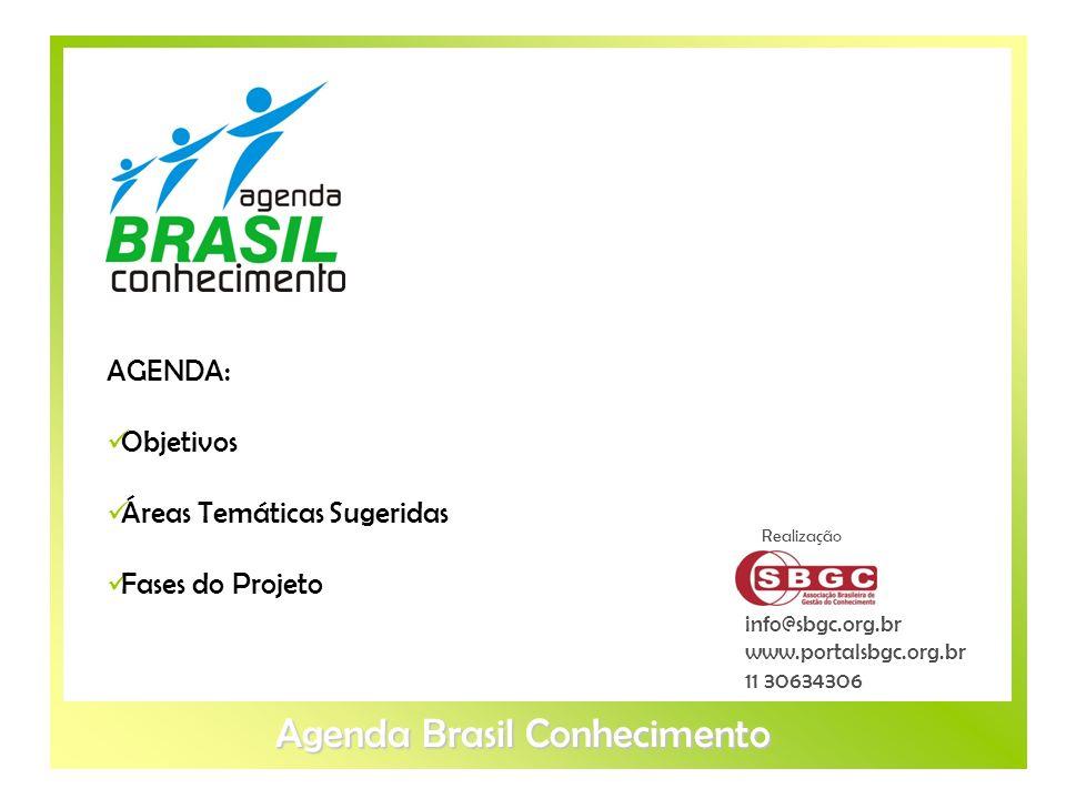 Objetivos Áreas Temáticas Sugeridas Fases do Projeto info@sbgc.org.br www.portalsbgc.org.br 11 30634306 Realização AGENDA: Objetivos Áreas Temáticas S