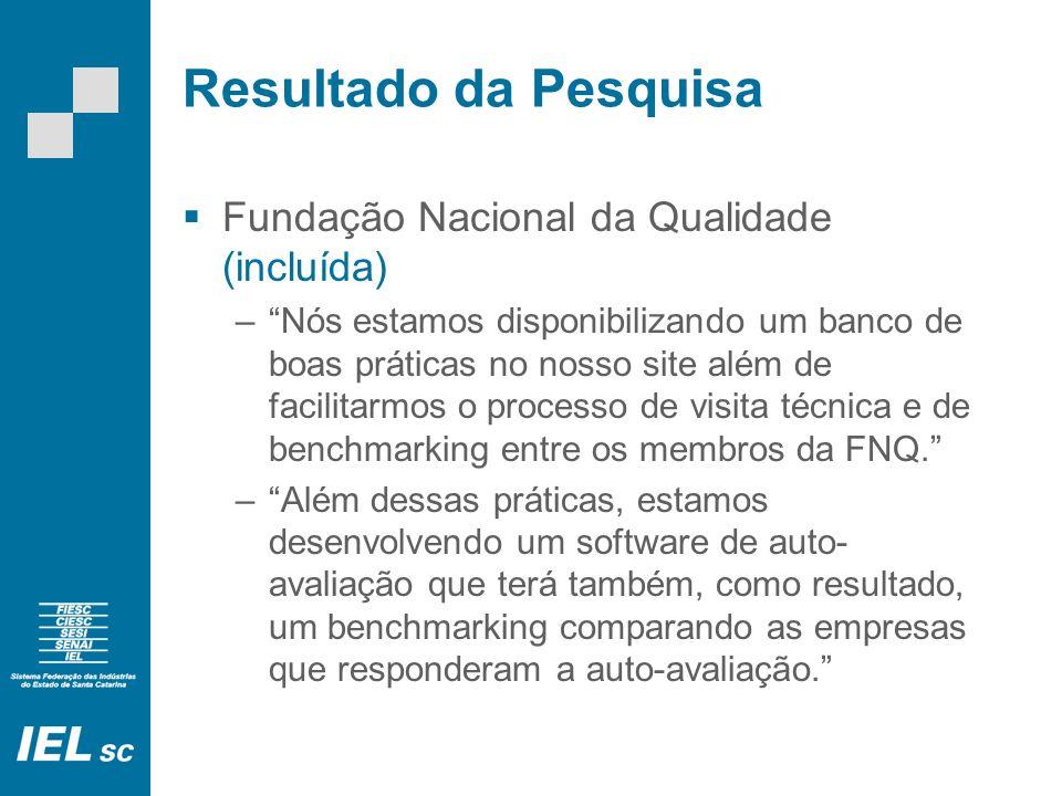 Resultado da Pesquisa BSD Consultoria (excluída – empresa de consultoria, não demonstra possuir base de informações comparativas).