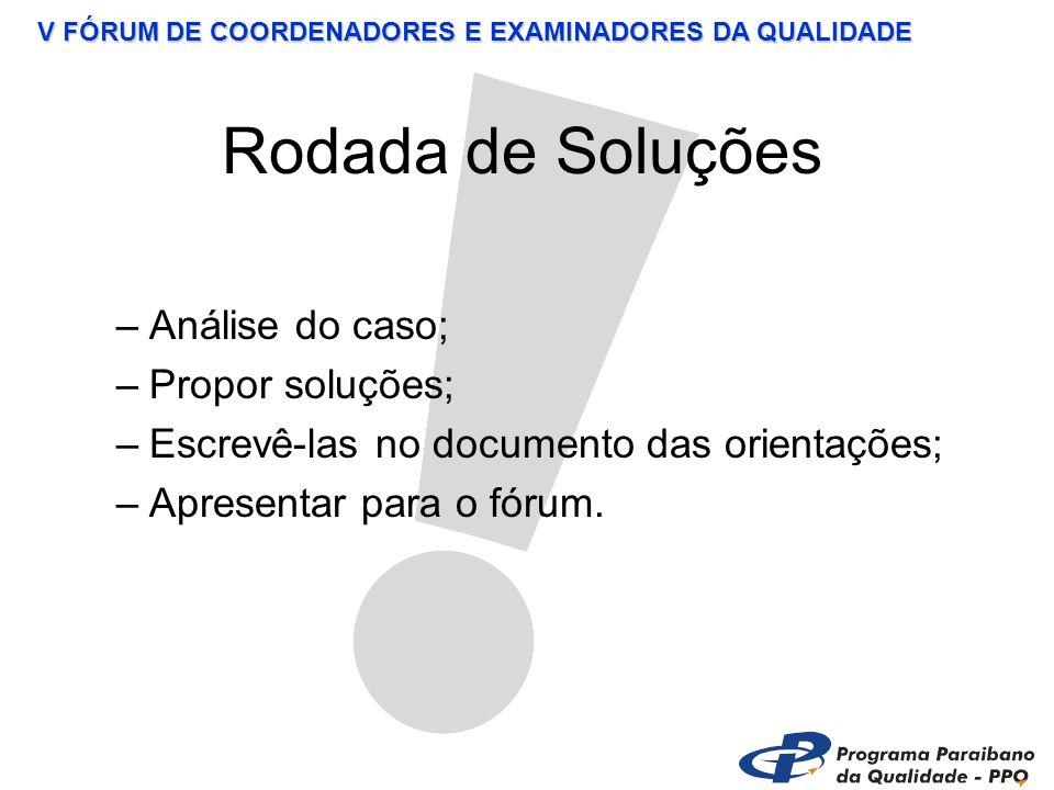 V FÓRUM DE COORDENADORES E EXAMINADORES DA QUALIDADE Debate