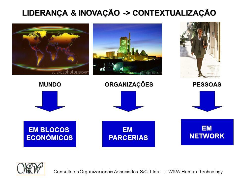 Consultores Organizacionais Associados S/C Ltda - W&W Human Technology LIDERANÇA & INOVAÇÃO -> CONTEXTUALIZAÇÃO EM BLOCOS ECONÔMICOS EM PARCERIAS EM NETWORK MUNDOPESSOASORGANIZAÇÕES