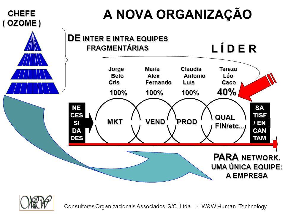 Consultores Organizacionais Associados S/C Ltda - W&W Human Technology 1 QUE OS LÍDERES NASCEM PRONTOS ( NATO ) 2 QUE MANDA QUEM PODE E OBEDECE...