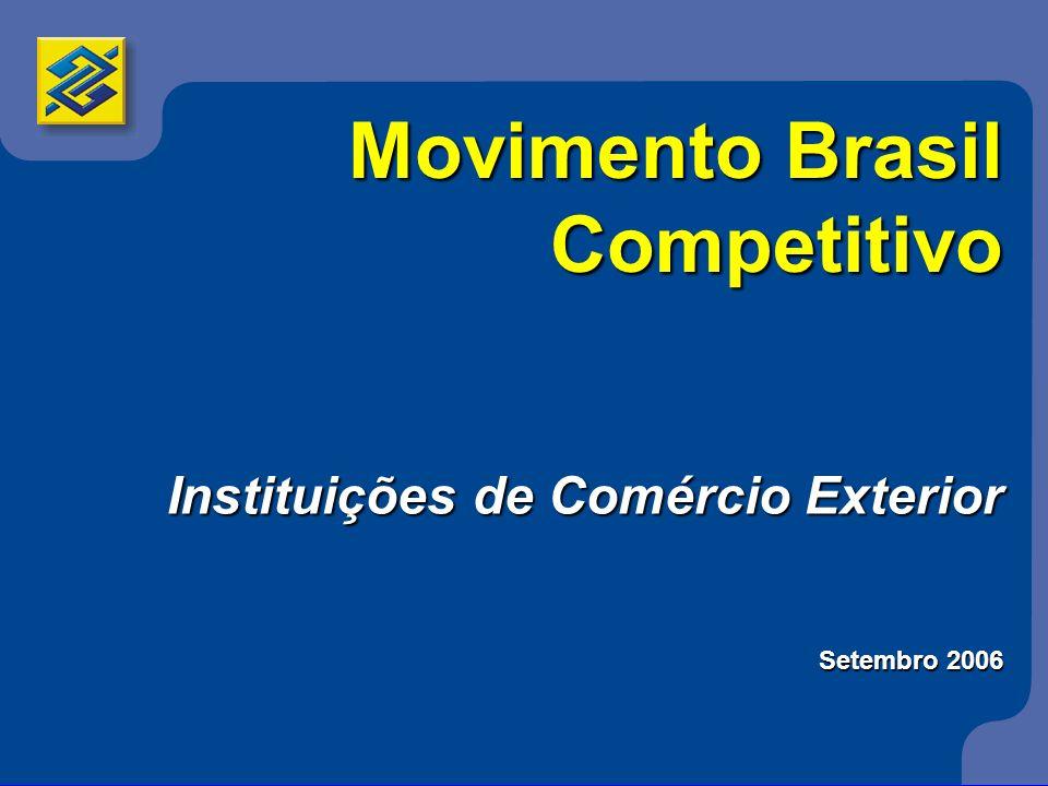 Movimento Brasil Competitivo Instituições de Comércio Exterior Setembro 2006