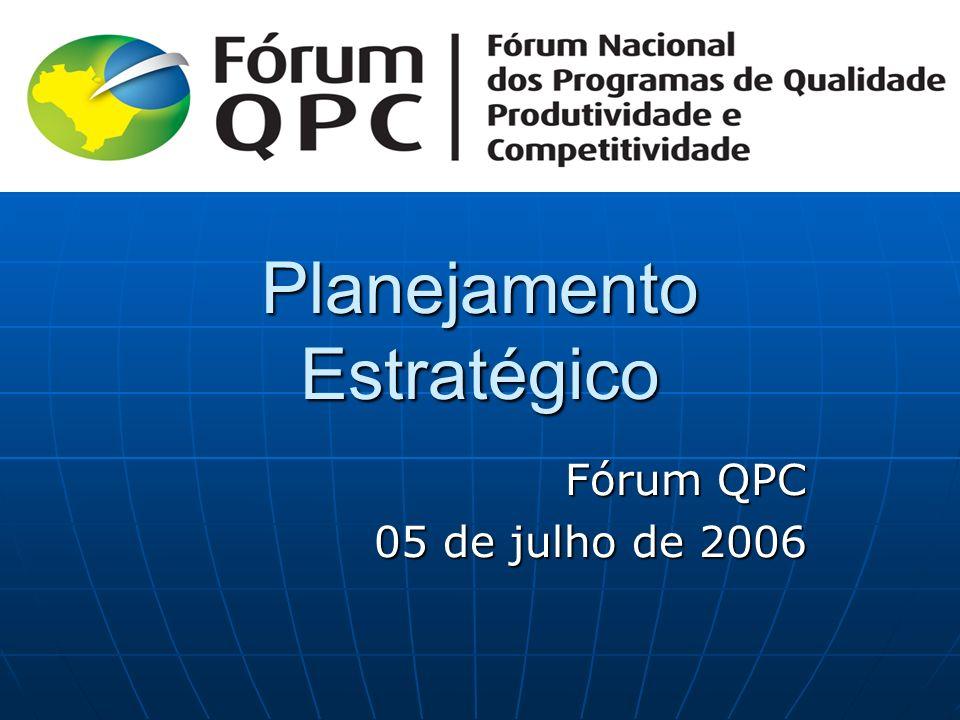 Planejamento Estratégico Fórum QPC 05 de julho de 2006 05 de julho de 2006
