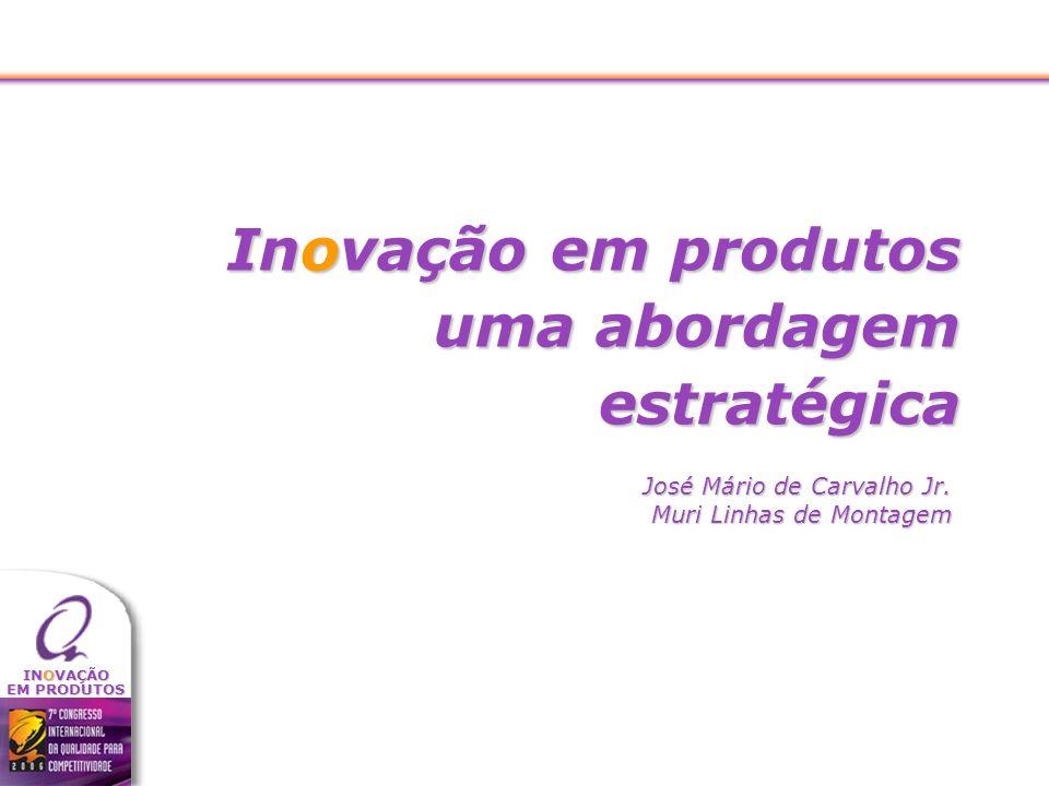 INOVAÇÃO EM PRODUTOS Inovação em produtos uma abordagem estratégica José Mário de Carvalho Jr. Muri Linhas de Montagem