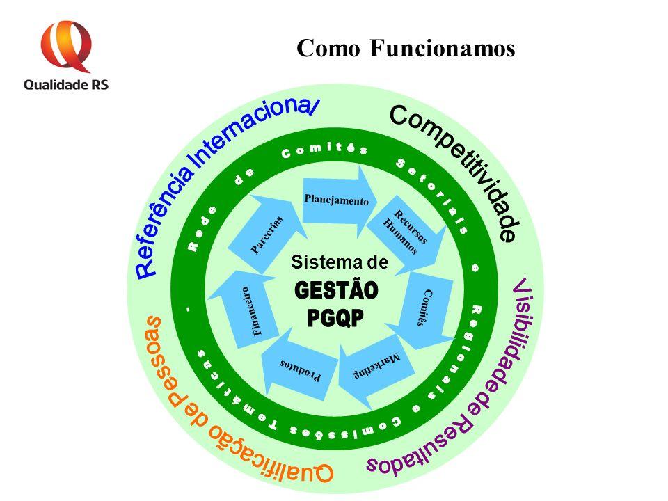 Planejamento Recursos Humanos Comitês Marketing Produtos Financeiro Parcerias Sistema de Como Funcionamos