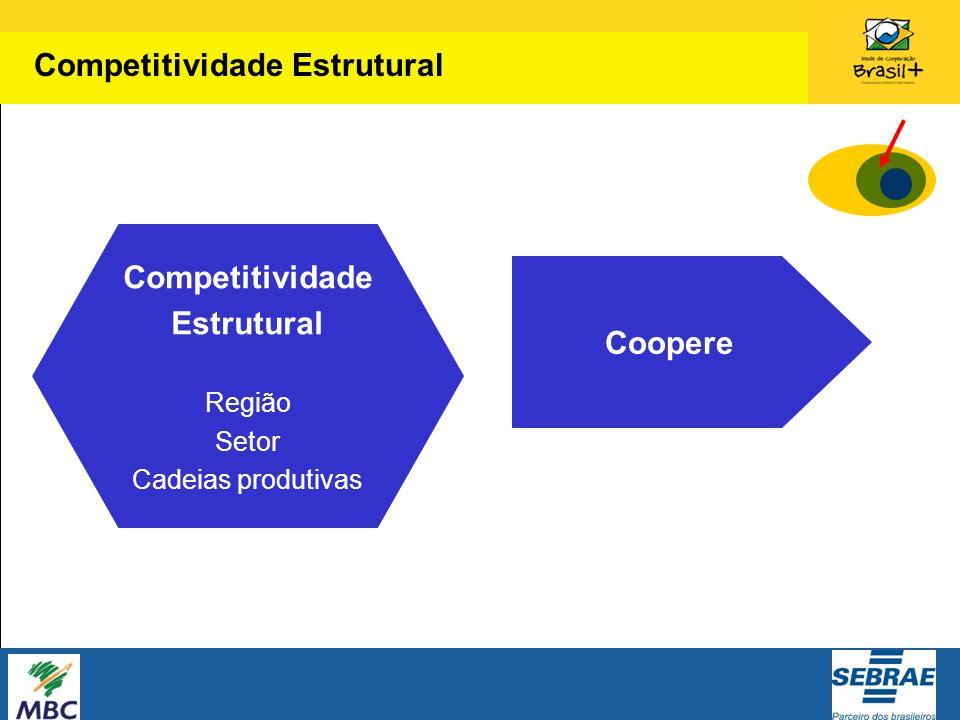 Competitividade Estrutural Região Setor Cadeias produtivas Coopere Competitividade Estrutural
