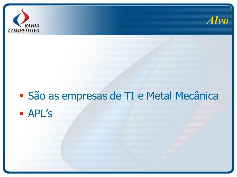 Alvo São as empresas de TI e Metal Mecânica APLs