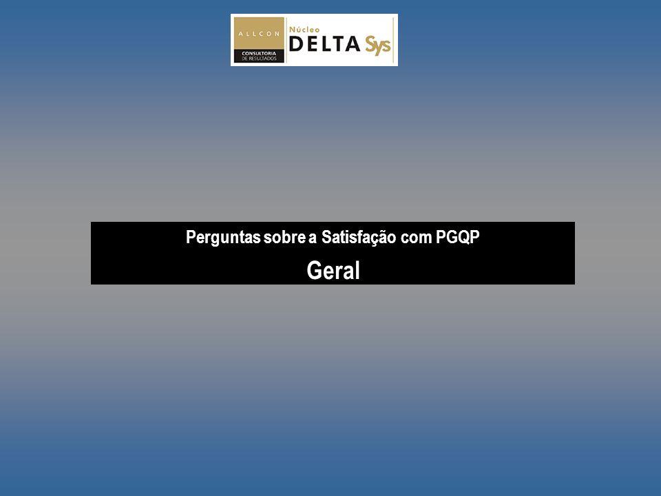 Perguntas sobre a Satisfação com PGQP Geral