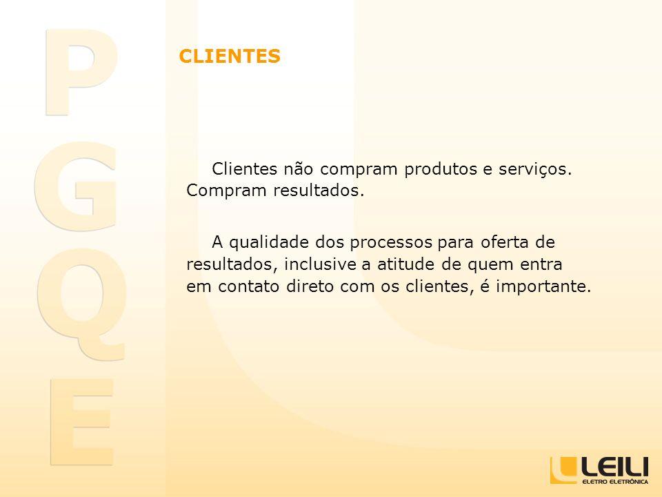 Clientes não compram produtos e serviços. Compram resultados. A qualidade dos processos para oferta de resultados, inclusive a atitude de quem entra e