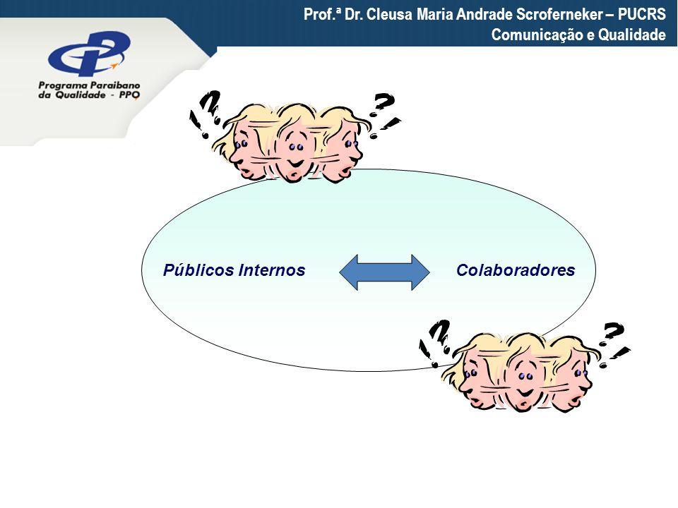 Prof.ª Dr. Cleusa Maria Andrade Scroferneker – PUCRS Comunicação e Qualidade Públicos Internos Colaboradores