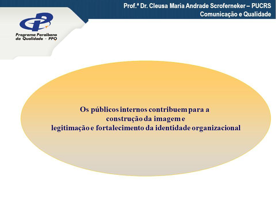 Prof.ª Dr. Cleusa Maria Andrade Scroferneker – PUCRS Comunicação e Qualidade Os públicos internos contribuem para a construção da imagem e legitimação