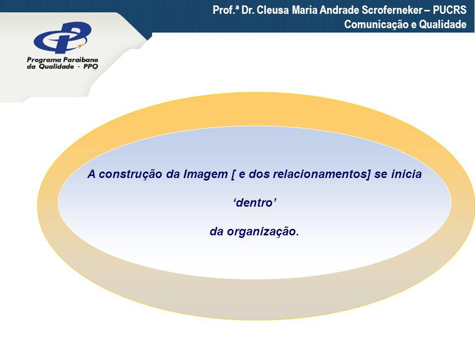 Prof.ª Dr. Cleusa Maria Andrade Scroferneker – PUCRS Comunicação e Qualidade A construção da Imagem [ e dos relacionamentos] se inicia dentro da organ