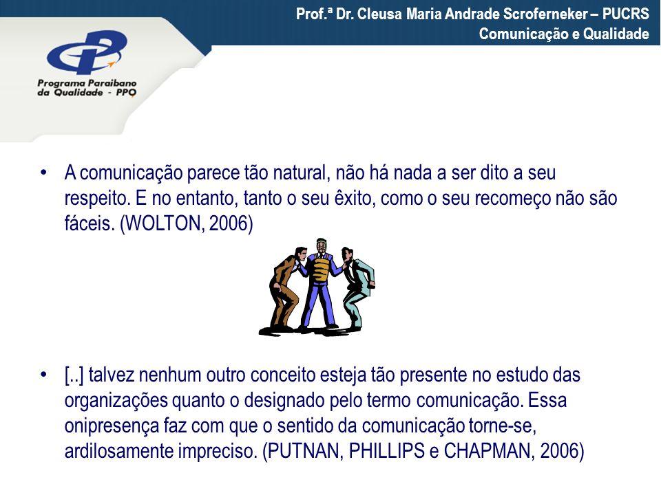 A comunicação parece tão natural, não há nada a ser dito a seu respeito. E no entanto, tanto o seu êxito, como o seu recomeço não são fáceis. (WOLTON,
