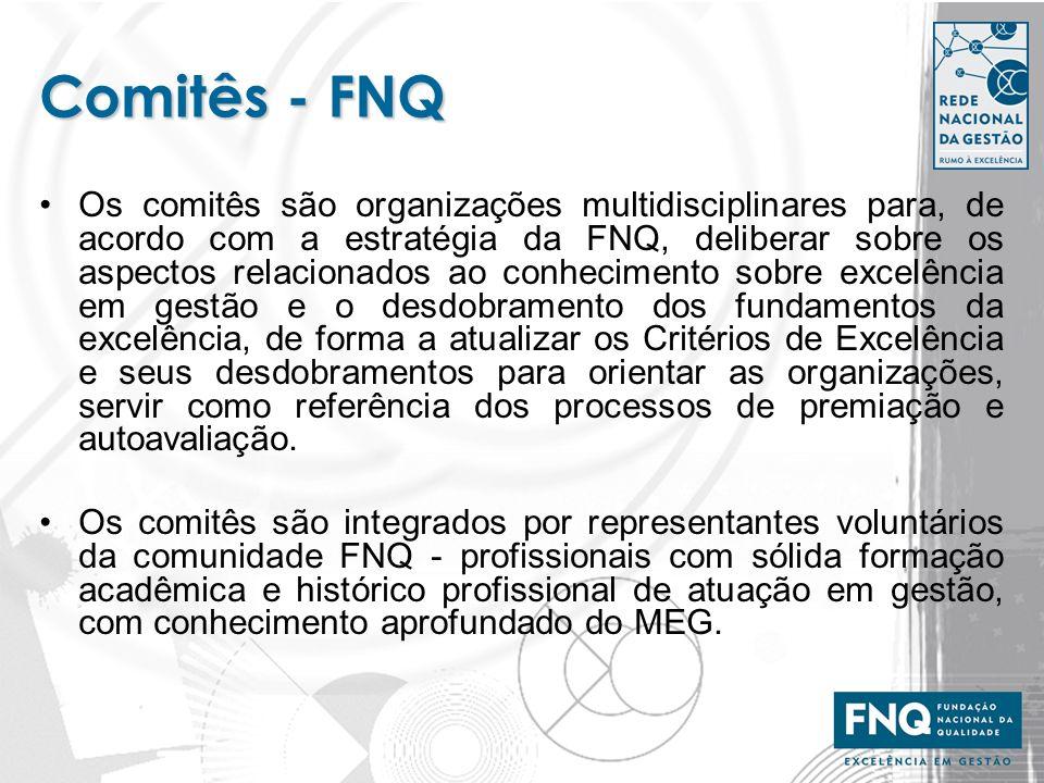Comitês - FNQ Os comitês são organizações multidisciplinares para, de acordo com a estratégia da FNQ, deliberar sobre os aspectos relacionados ao conh
