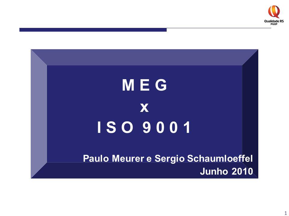1 M E G x I S O 9 0 0 1 Paulo Meurer e Sergio Schaumloeffel Junho 2010