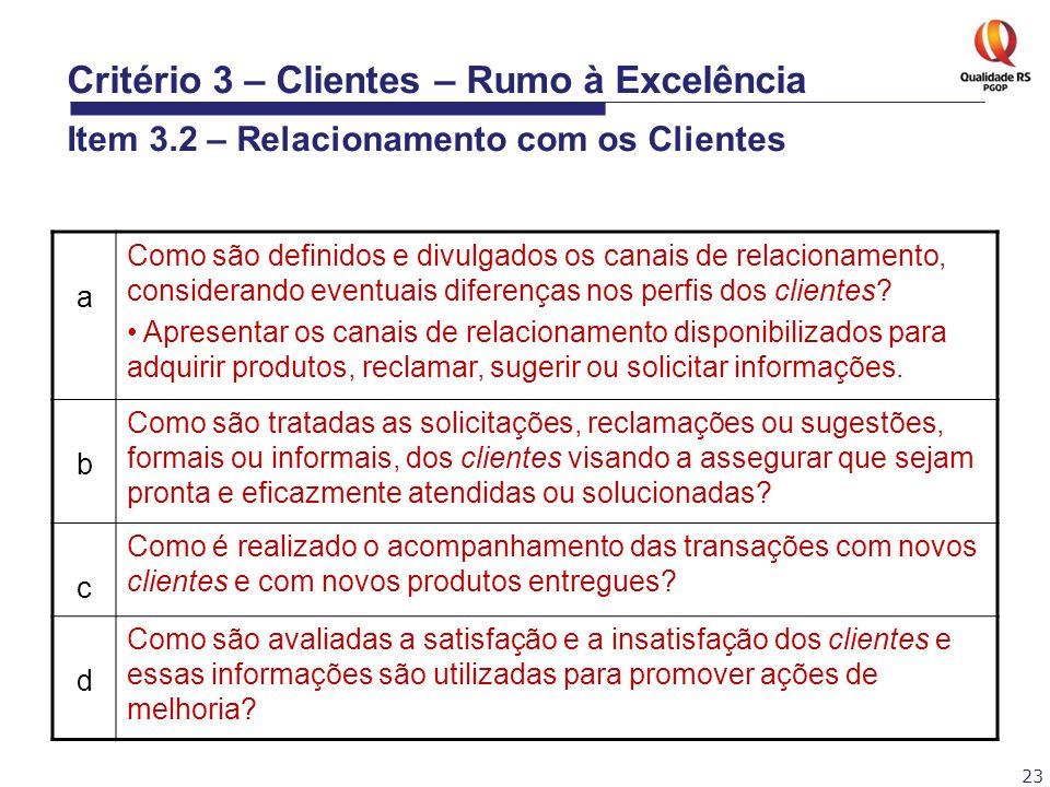 23 a Como são definidos e divulgados os canais de relacionamento, considerando eventuais diferenças nos perfis dos clientes? Apresentar os canais de r