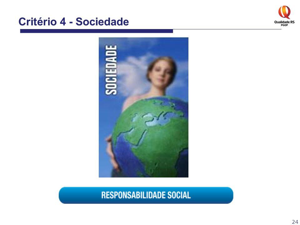 24 Critério 4 - Sociedade
