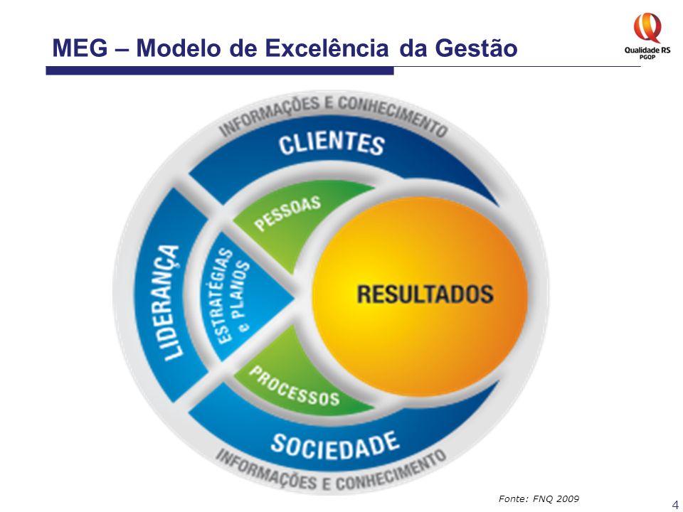 4 Fonte: FNQ 2009 MEG – Modelo de Excelência da Gestão