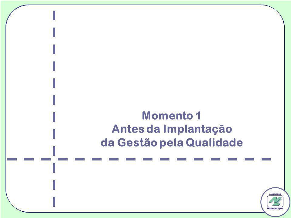 Momento 1 Antes da Implantação da Gestão pela Qualidade