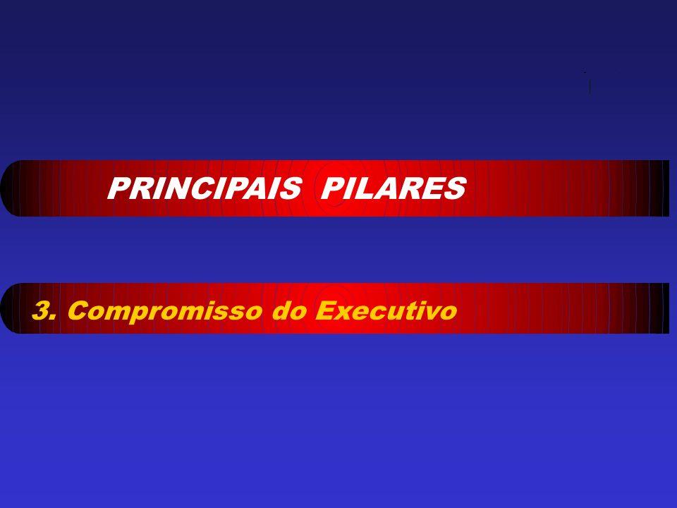 PRINCIPAIS PILARES 3. Compromisso do Executivo