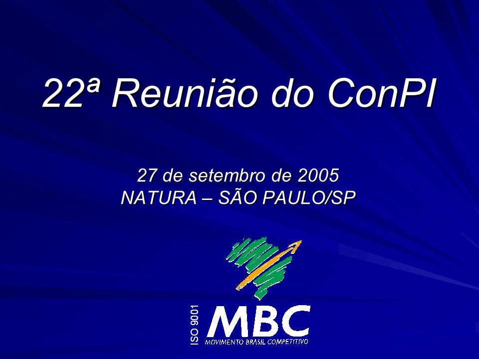 22ª Reunião do ConPI 27 de setembro de 2005 NATURA – SÃO PAULO/SP