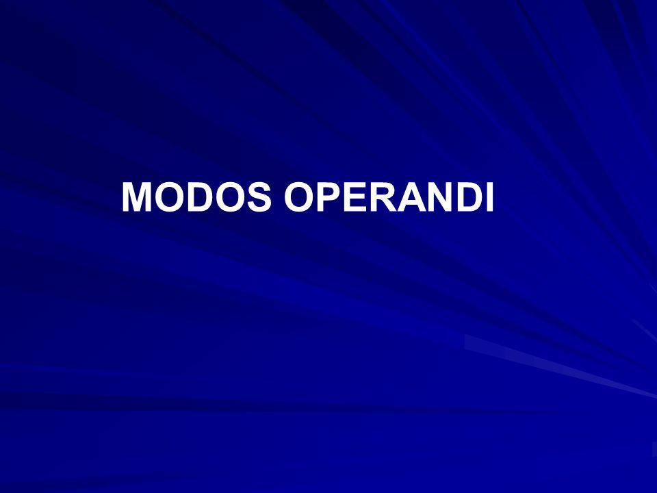 MODOS OPERANDI