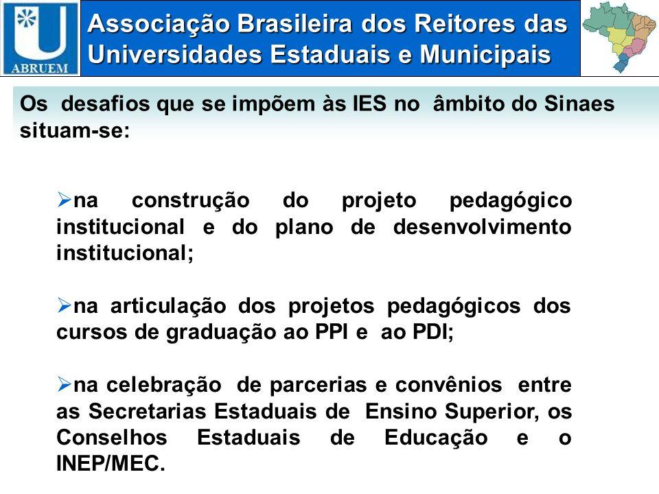 Associação Brasileira dos Reitores das Universidades Estaduais e Municipais na construção do projeto pedagógico institucional e do plano de desenvolvi