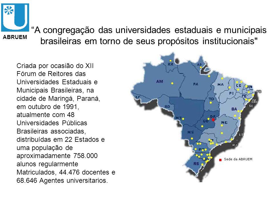 A congregação das universidades estaduais e municipais brasileiras em torno de seus propósitos institucionais