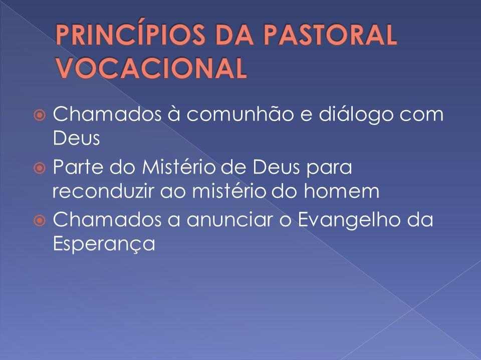 Uma cultura do chamamento A responsabilidade é de toda a Igreja A ação vocacional é a categoria unificadora da pastoral em geral Redescobrir o acompanhamento espiritual pessoal.