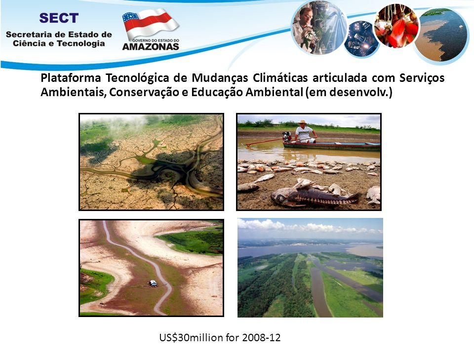 Plataforma Tecnológica de Mudanças Climáticas articulada com Serviços Ambientais, Conservação e Educação Ambiental (em desenvolv.) US$30million for 20