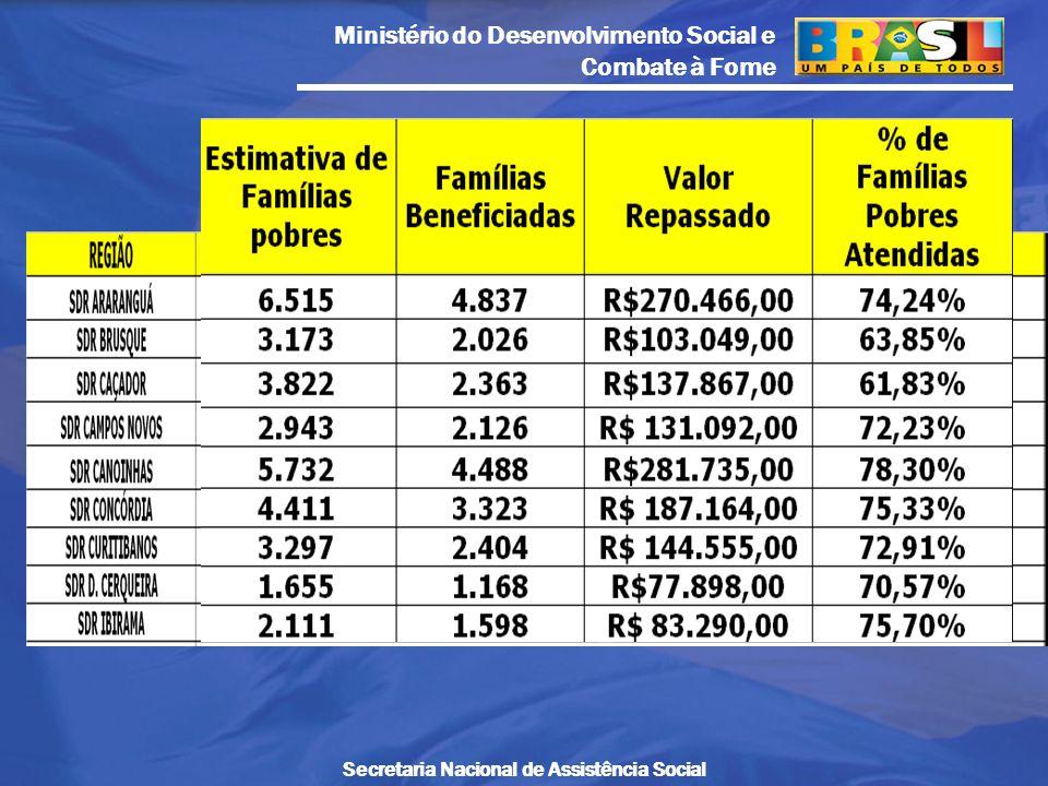 Ministério do Desenvolvimento Social e Combate à Fome Secretaria Nacional de Assistência Social