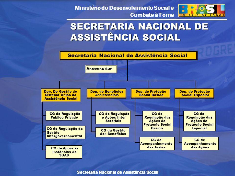 Ministério do Desenvolvimento Social e Combate à Fome Secretaria Nacional de Assistência Social SECRETARIA NACIONAL DE ASSISTÊNCIA SOCIAL