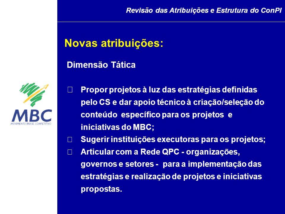 Dimensão Tática Propor projetos à luz das estratégias definidas pelo CS e dar apoio técnico à criação/seleção do conteúdo específico para os projetos