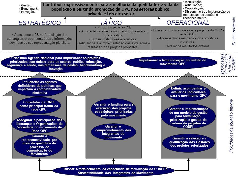 Mapa Estratégico do CONPI (Validado) Assessorar o CS na formulação das estratégias, propor conteúdos e informações advindas de sua representação pluralista.