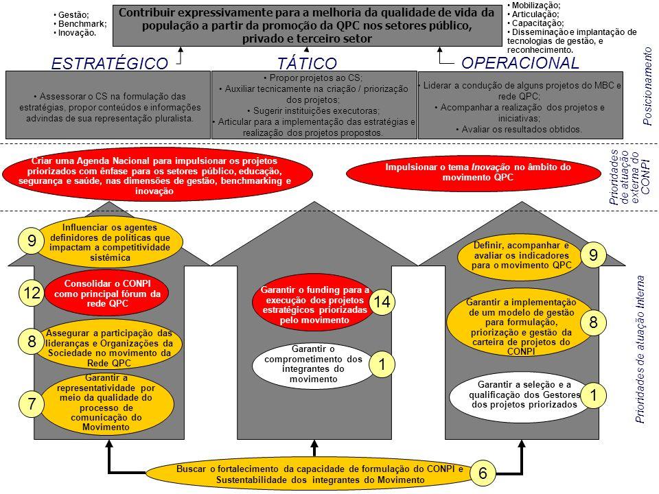 Mapa Estratégico do CONPI (Validado) Assessorar o CS na formulação das estratégias, propor conteúdos e informações advindas de sua representação plura